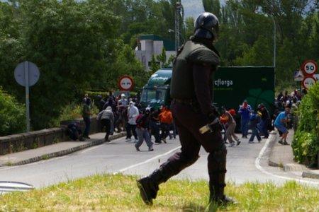 Un momento de uno de los recientes enfrentamientos en San Román