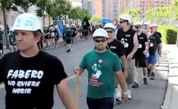 Captura de la Marcha en su entrada a León / Youtube: victorelx