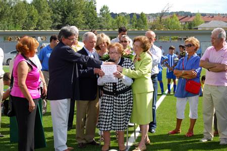 En 2010 fue la protagonista de la inauguración del campo de El Barco