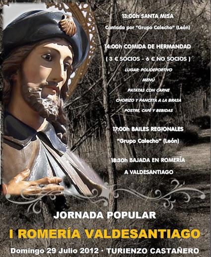 Cartel con la imagen de Santiago Peregrino