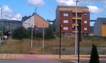 Parcela donde se ubicará la estación en El Vaguillo