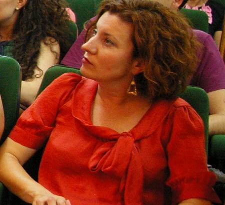 Nancy Prada el pasado 12 de julio en la asamblea de renovación de la Ejecutiva del PSOE