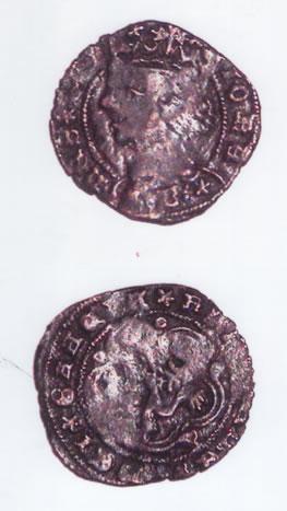 Monedas medievales procedentes de la necrópolis judía de Bembibre