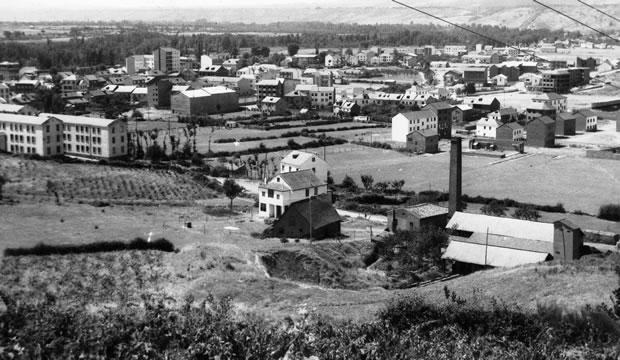 Panorámica de Bembibre desde San Cebollón - años 60
