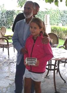 Raquel Villán junto al presidente de la Federación de Castilla y León de Tenis en Segovia