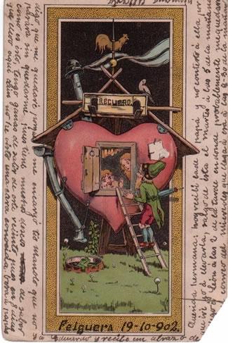 Tarjeta postal de 1902 perteneciente a la familia de Marisa y José Manuel Estévez Gago