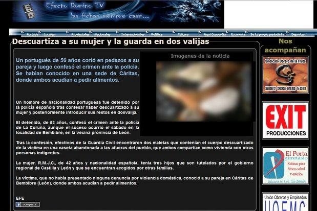 Bembibre Digital ha difuminado la polémica fotografía publicada en Efecto Dominó TV