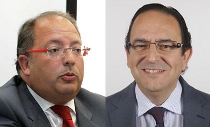 Los parlamentarios nacionales del Partido Popular Eduardo Fernández y Luis Aznar