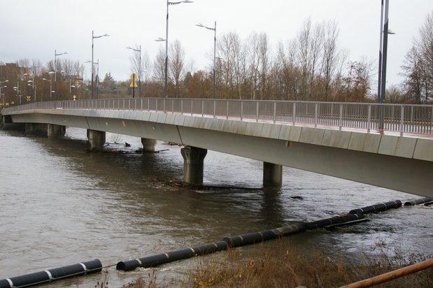 El río Boeza creció considerablemente el sábado por las fuertes lluvias