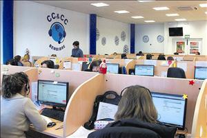 Imagen del interior del call center / Foto: GG