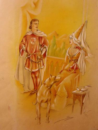 D. Álvaro y Dª Beatriz (El Señor de Bembibre)