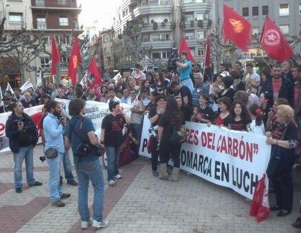 Un momento de la manifestación. Foto: Fes-UGT (@FesUGTLeon)