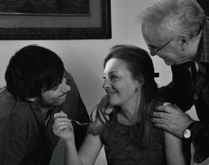 Aingeru Mera, Santos López y Mercedes Cristóbal