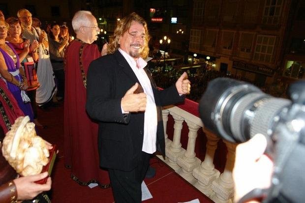 Juan Muñoz durante un acto en que participó / Foto: Facebook página artística Juan Muñoz