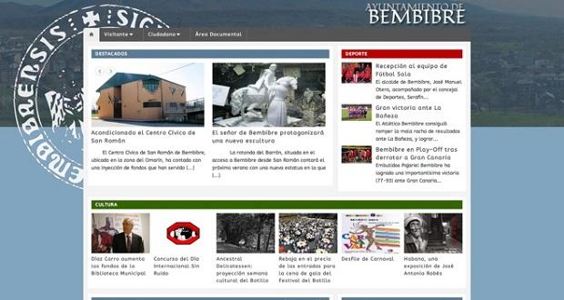 Así se puede visualizar desde hoy la nueva web municipal