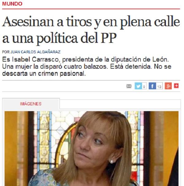 Captura del periódico Clarín que no descarta el crimen pasional