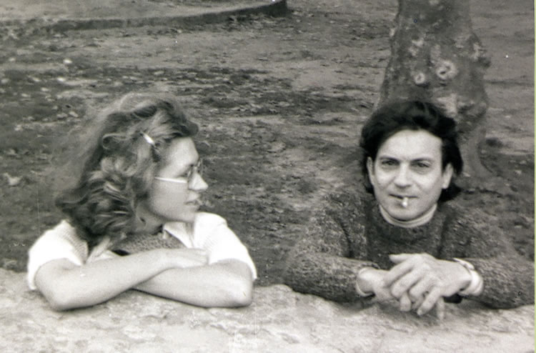 Amable Arias y Maru Rizo en Santillana del Mar (1978) - Álbum de Maru Rizo