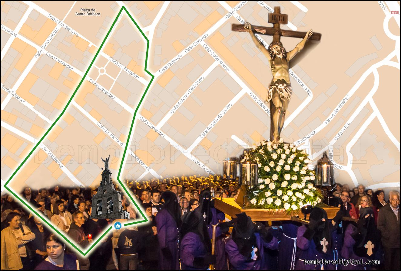 mapa cristo agonia