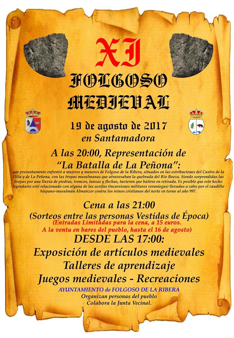 cartel folgoso medieval 2017