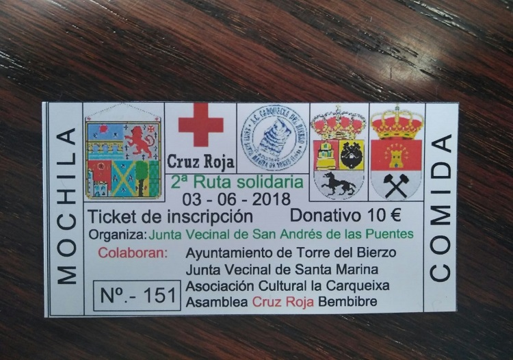 ticket ruta senderismo
