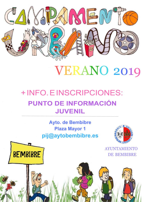 cartel campamento Bembibre 2019