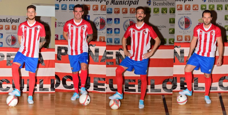 De izquierda a derecha, Jairo Blanco, Marcos López, Adrián Alvarez y Jose Antonio Alijo