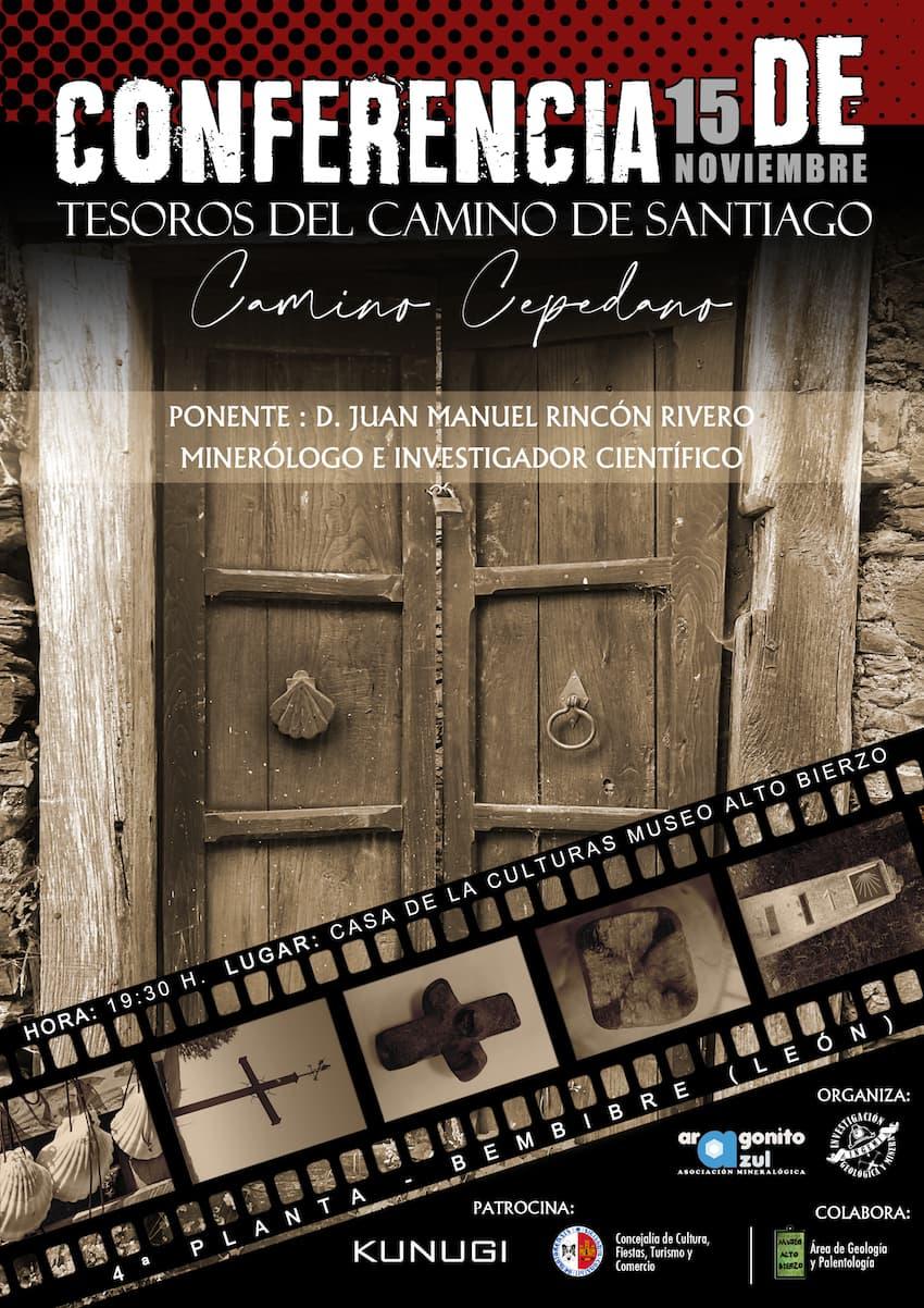 Aragonito Azul Bembibre conferencia Tesoros Camino Santiago