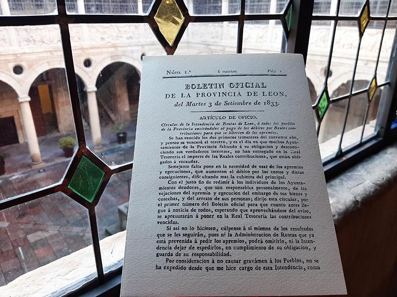 El BOP de León cumple 186 años de historia desde su primer número en 1833 - Bembibre Digital
