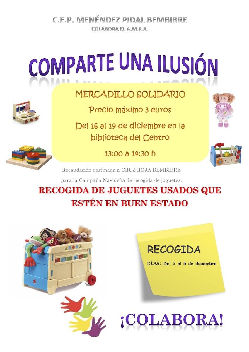 Cartel Mercadillo Solidario Menéndez Pidal de Bembibre