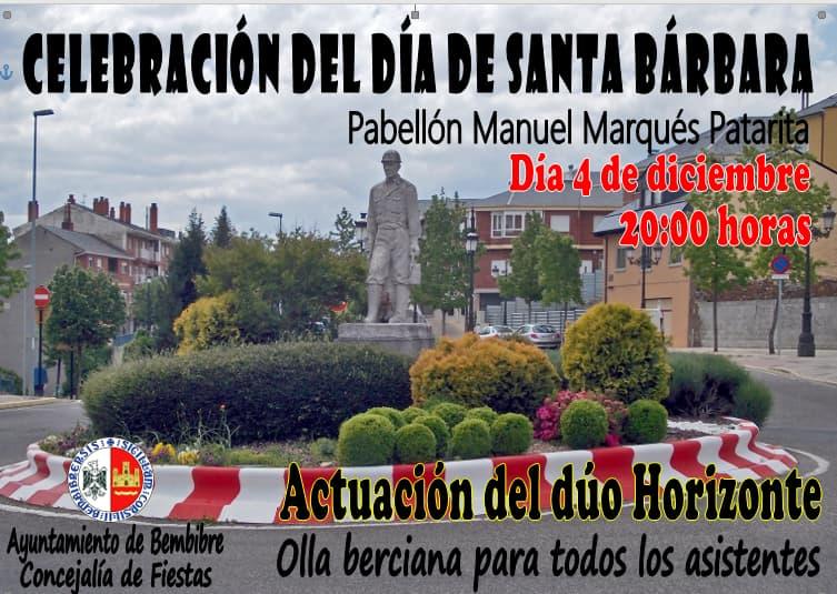 Cartel fiesta Santa Bárbara Bembibre