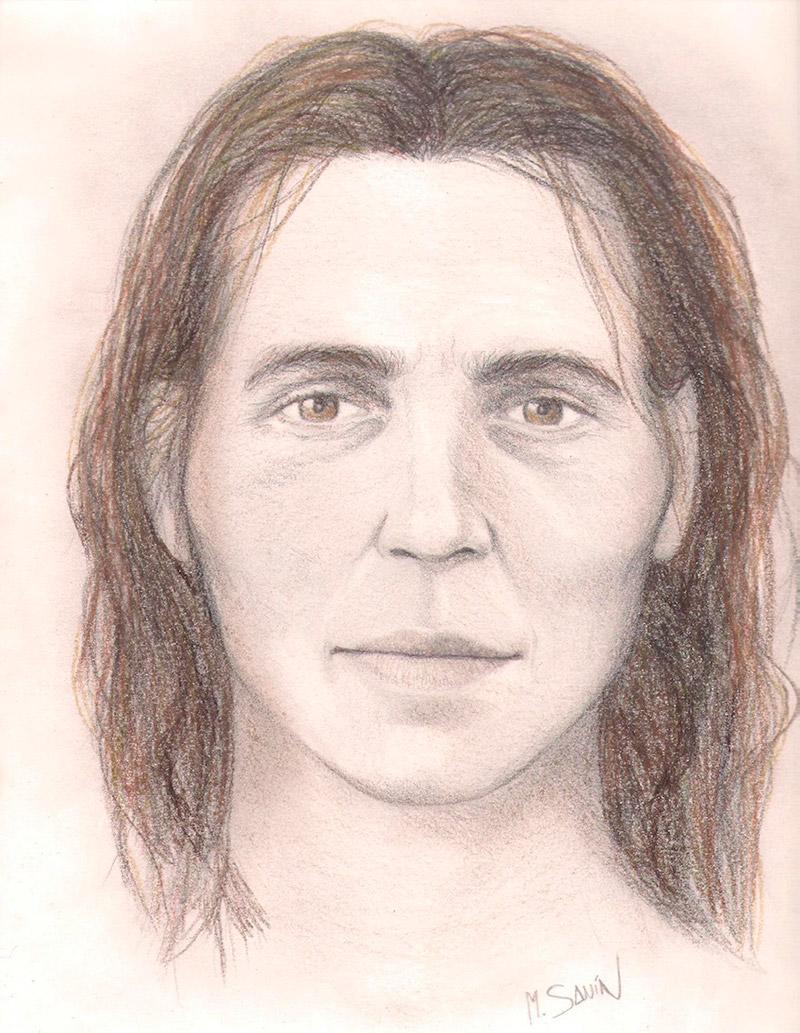 Recreación de la cara de Elba a partir de sus restos oseos y su ADN