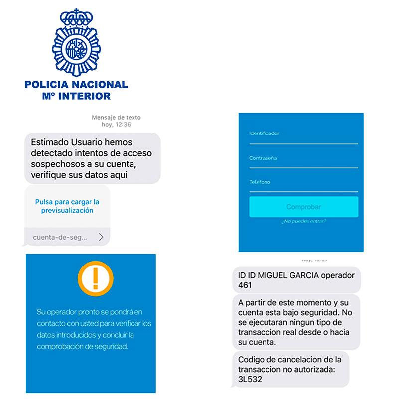 policia nacional fraude banca